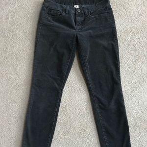 J.Crew Gray Corduroy Low Rise Skinny Pants 27
